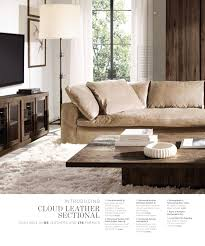 Restoration Hardware Lancaster Sofa Leather by Bone Italian Brompton Leather Cloud Sofa Family Room Couch