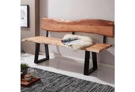 wohnling esszimmerbank gaya 160x83 5x60 cm akazie massivholz bank mit baumkante sitzbank holzbank mit lehne