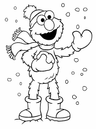 Elmo Christmas Coloring Pages Printable