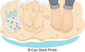 Beach Wedding Couple Feet