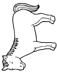 Blue Horse Coloring Activity For Older Kids