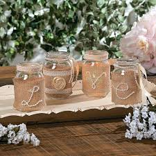 Wedding Decoration Ideas Using Burlap Diy Centerpieces Pearls Ribbon And Mason Jars Just Decorations With Rustic