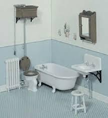 puppenhaus miniatur viktorianisch badezimmer set