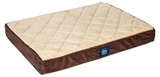 amazon com serta orthopedic quilted pillowtop dog bed large