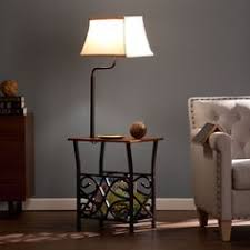 Floor Lamp With Attached End Table by End Table With Lamp Built In Attached With Storage Living Room