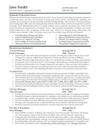 Retail District Manager Resume Samples Resumes Sample For Management Job Store