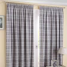 Thermal Lined Curtains Australia by Edinburgh Plain Checked Tartan Look Pencil Pleat Top Tape Top