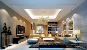modern living room designed with fireplace and wall tv for home