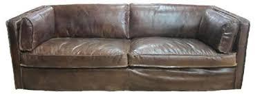 casa padrino echtleder wohnzimmer sofa vintage dunkelbraun 225 x 99 x h 73 cm luxus möbel