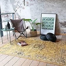 de fraai teppich vintage gelb schwarz