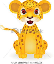 Vector illustration of baby leopard cartoon vectors Search Clip