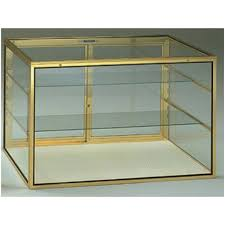 100 Countertop Glass Portable Jewelry Display Aluminum Frame Locking Showcase WCarry Case 34 W X 22 D X 22 H Knockdown New