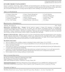 Construction Project Manager Resume Samples Sample Profile Summary