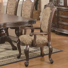 Coaster Andrea Upholstered Arm Dining Chair Set Of 2