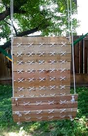 Outdoor Hanging Chair Swing Made From Pallets By Powerwhereitbelongs Via Etsy