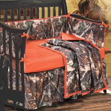 camo bedding 4 piece orange and camo crib set camo trading