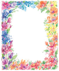 Free Border Designs For A4 Size Paper Flowers 25
