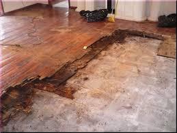 Laying Tile Over Linoleum Concrete by Installing Laminate Wood Floor In Basement Around Door Frame