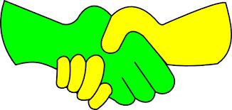 Green And Yellow Handshake Clip Art
