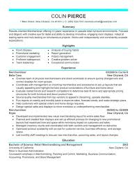 Merchandiser Retail Representative Part Time Resume Sample
