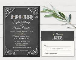 I DO BBQ Invitation Reception Only Do Bbq Barbecue Rustic Chic