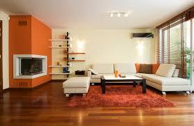 Modern Warm Living Room Idea