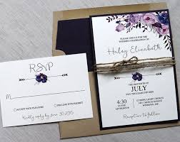 Boho Floral Wedding Invitation Rustic