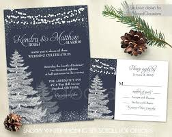 Rustic Winter Wedding Invitations And Large Size Of Invitation Template Set