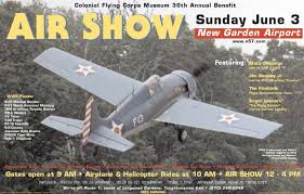 Air Show Colonial Flying Corps Annual Benefit New Garden Airport