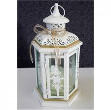 Wedding Lantern Centerpiece Antique White Ivory Finish With Tan Champagne Decor Table Centerpieces Ideas