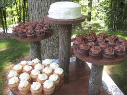 Modern Style Cupcake Wedding Cake Stand With Rustic By