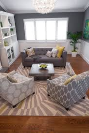 Modern Creativity Small Living Room Sofa Nice Carpet Striped Motive Decorating Collection Wooden Base