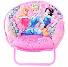 amazon com disney princess kids pink folding mini saucer chair