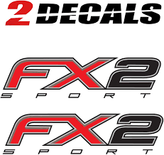 100 Ford Stickers For Trucks F150 FX2 Sport Decals F Truck 4x4 Bed Side Set Of 2