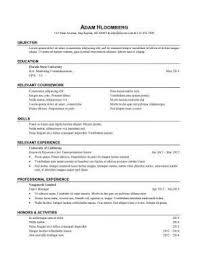 Internship Resume Sample For College Students In Malaysia Archives