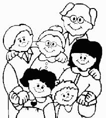 God Made Families Coloring Page Pictures