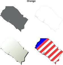 Orange County Blank Outline Map Set Stock Vector Of California Counties
