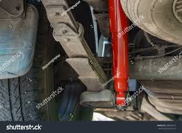 100 Truck Shock Absorbers Red Absorber Mounted Pickup Stock Photo Edit Now