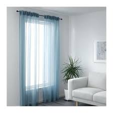 sheer blue curtains funny