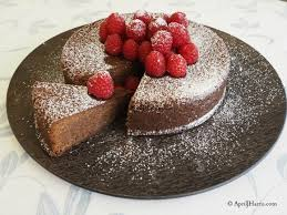 Chocolate and Raspberry Jam Cake on AprilJHarris