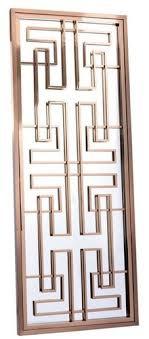 casa padrino luxus edelstahl wandspiegel rosegold 85 x 6 x h 220 cm designer spiegel garderobenspiegel wohnzimmer spiegel