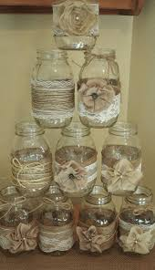 Set Of 10 Mason Jar Sleeves Burlap Wedding Decorations Rustic Centerpieces