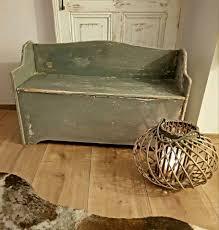 bank truhenbank holz shabby küche vintage landhaus esszimmer deko