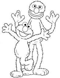 Elmo And Grover Sesame Street Coloring Pages Bert Free Printable