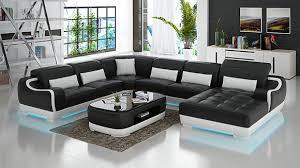 ledersofa polster sitz eck sofa garnitur wohnlandschaft wohnzimmer g8025