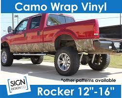 100 Vinyl Wrap Truck Camo TRUCK SUV Rocker Panel Kit Real Tree Mossy Oak Etsy