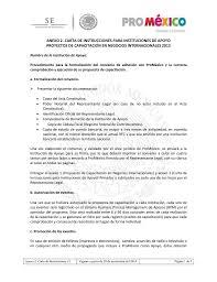 Carta De Instrucciones Anexo 2