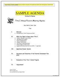 Meeting Agenda Template Word Ms fice Templates Microsoft Format