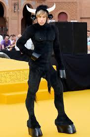 Sacha Baron Cohen Dons Bull Costume