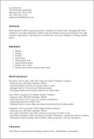 1 Flight Operation Officer Resume Templates Try Them Now Rh Myperfectresume Com Airport Executive Director Manager